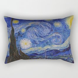 The Starry Night by Vincent van Gogh (1889) Rectangular Pillow