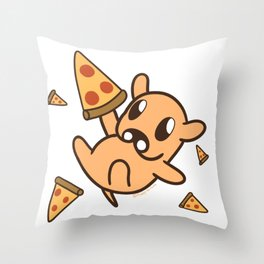 Puppy Pizza Party Throw Pillow