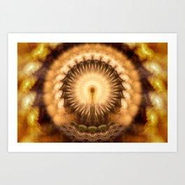 Divine Inspiration - Abstract Kaleidoscopic Mandala Art Print