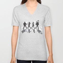 Abbey Road Serial Killers Parody Design Unisex V-Neck