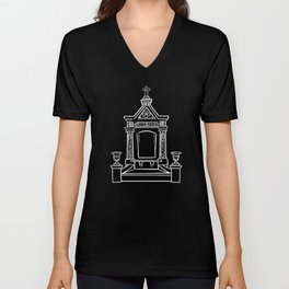 Single tomb Black  Unisex V-Neck