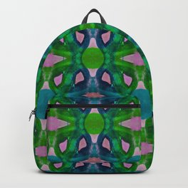 Green And Pink Acrylic Painting Pattern Backpack