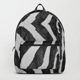 Zebra Animal Print Black White Gray Backpack