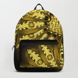 """Gold"" Gazania Flower Special Edition 1 (Black Back) Backpack"