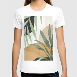Abstract Art Tropical Leaves 4 T-shirt
