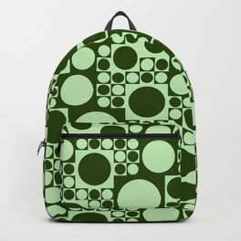 Green circles seamless background Backpack