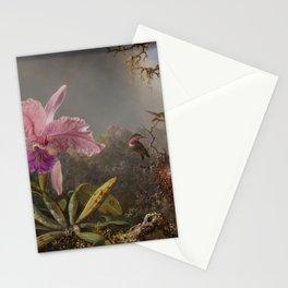 Cattelya Orchid And Three Brazilian Hummingbirds 1 By Martin Johnson Heade | Reproduction Stationery Cards