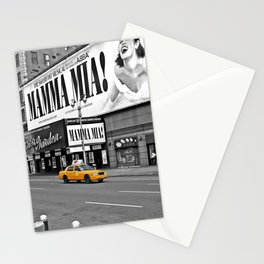 NYC Yellow Cabs Mamma Mia - USA Stationery Cards
