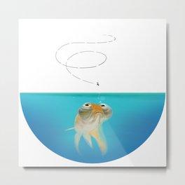The Goldfish Diet Metal Print
