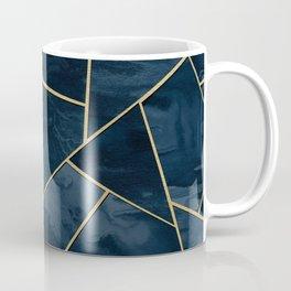 Dark Midnight Navy Blue Gold Geometric Glam #1 #geo #decor #art Coffee Mug