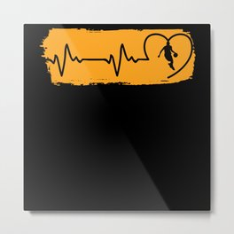 Heartbeat Team Players Play League Metal Print