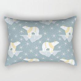 Bears and Snow Pattern Rectangular Pillow