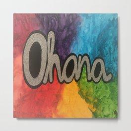 Ohana Rainbow Metal Print