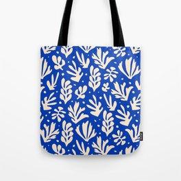 matisse pattern with leaves in blu Tote Bag