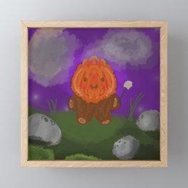 Flame Boy Framed Mini Art Print