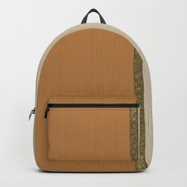 Abstract orange mid-century Backpack