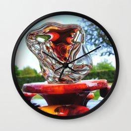 Water Sculpture in Kunsthaus-Lay Garden Wall Clock