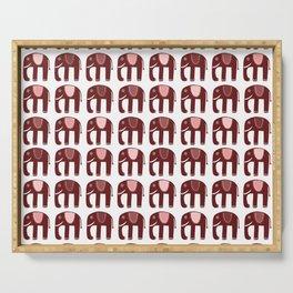 Pink Elephants Serving Tray