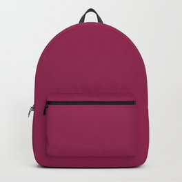 SANGRIA Red Wine solid color Backpack