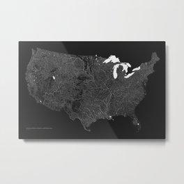 American Rivers, Streams, and Waterways Metal Print