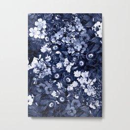 Bohemian Floral Nights in Navy Metal Print