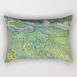 Vineyards at Auvers Rectangular Pillow