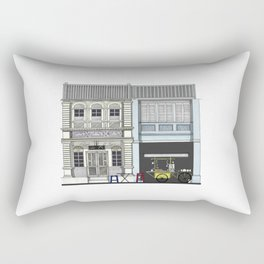 Penang Street Scene II Rectangular Pillow