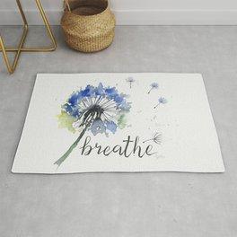 Breathe! Dandelion Floral Botanical Art Rug