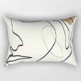 Abstract Face Rectangular Pillow
