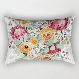 Fall Protea Bouquet Rectangular Pillow