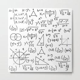 Math Madness Metal Print