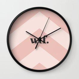 WTF Chevron Wall Clock