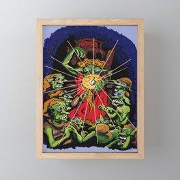 The Trolls and the Penny Framed Mini Art Print
