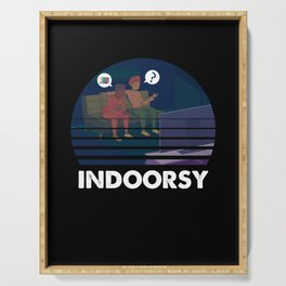 Indoorsy Watching Television TV Series Movie Show Gift Serving Tray