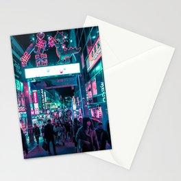 Tokyo's Neon-Lit Takeshita Street Stationery Cards