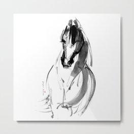 Horse (Inky) Metal Print