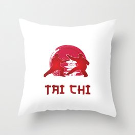 Martial Arts Self Defense Combat Sports Life Is Simple Eat Sleep And Tai Chi Gift Throw Pillow