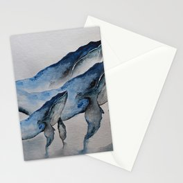 Blue whales Stationery Cards