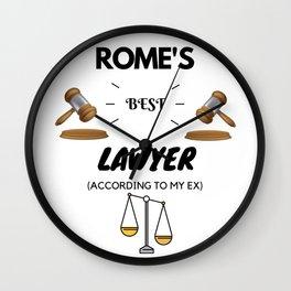Rome's Best Lawyer Wall Clock