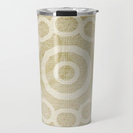 Rivet pattern on stained paper Travel Mug
