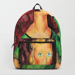 Alfred Henry Maurer - Two Sisters in Green - Digital Remastered Edition Backpack