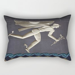 Herald of the Greek Gods in NYC Rectangular Pillow