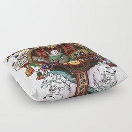 Ghibli Izakaya Print Coloured Floor Pillow