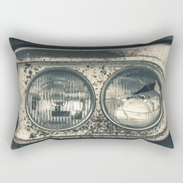 Broken Headlight on Vintage Pick-up Truck Rectangular Pillow
