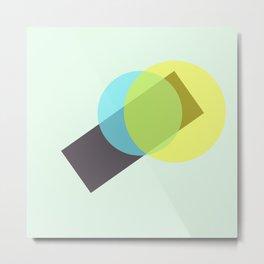 yellow n blue circles 001 Metal Print