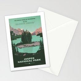 Jasper National Park Poster Stationery Cards