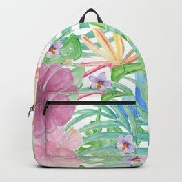 Malia's Tropical Print Backpack