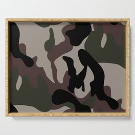 Fashionable camouflage pattern Serving Tray