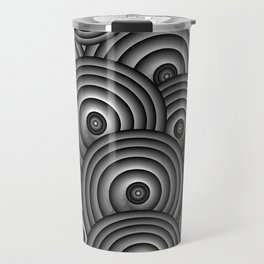 Charcoal Swirls Travel Mug