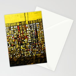 Abstract Modern Art City Map Pattern Stationery Cards